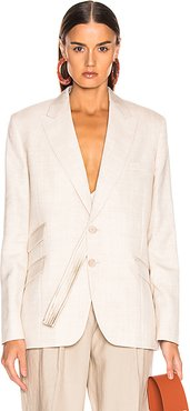 Tailored Jacket in Nude
