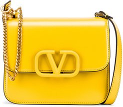 Small VSling Shoulder Bag in Yellow