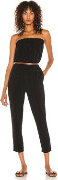 Strapless Knit Jumpsuit in Black. - size L (also in M,S,XS,XXS)