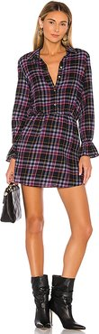 Button Up Plaid Dress in Blue,Pink. - size L (also in S)