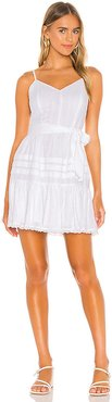 Spaghetti Strap Flounce Skirt Dress in White. - size 2 (also in 4,6,8,10)