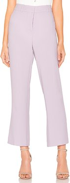 Textured Crepe Mini Kick Flare Pant in Lavender. - size 2 (also in 0)