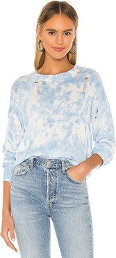 X REVOLVE Natalya Sweater in Baby Blue. - size XS (also in S)