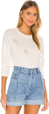 Faline Sweater in White. - size L (also in XS,S,M)