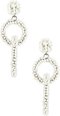 Cabana Earring in White.