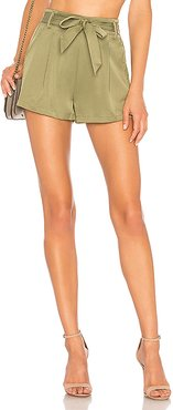 Katerina Paperbag Shorts in Army. - size XL (also in L,M)