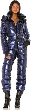 Down Sky Suit With Detachable Hood in Blue. - size 40 (also in 38)