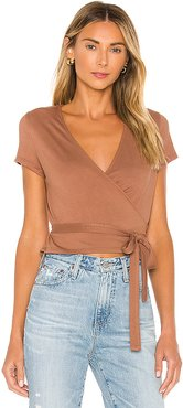 Kyaryo Top in Brown. - size L (also in S,XS)