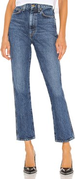 Pinch Waist High Rise Kick in Blue. - size 26 (also in 24,29)