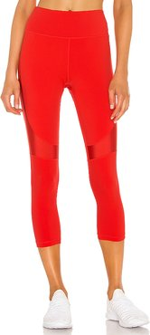 Crop Vamp Tight in Red. - size S (also in XS,M,L)