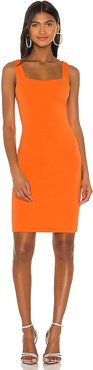 Addie Midi Dress in Orange. - size 8 (also in 0,10,2,4,6)