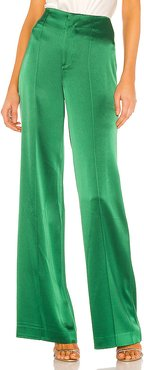 Dylan Clean High Waist Wide Leg Pant in Green. - size 0 (also in 2,4,6,8)