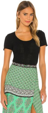 Ciara Scoop Neck Cropped Top in Black. - size S (also in L,M,XS)