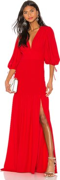 Gala Maxi Dress in Red. - size S (also in L,XS)
