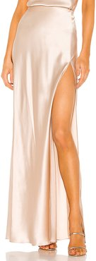 X REVOLVE Edie Maxi Skirt in Ivory. - size L (also in M,S,XS)