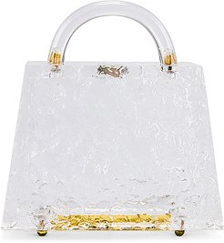 Mini Top Handle Bag in White.