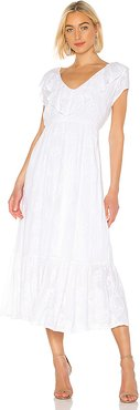 Tropical Morning Maxi Dress in White. - size S (also in M,XS)