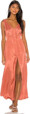 Marlena Woven Maxi Dress in Pink. - size L (also in M,S,XS)