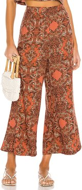 Paradise Woven Pant in Brown. - size XS (also in L,M,S)
