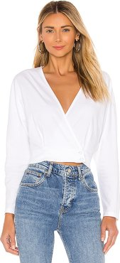 Shandie Long Sleeve Top in White. - size S (also in L,M,XS)