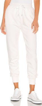 Saylor Jogger in White. - size S (also in M,XS)
