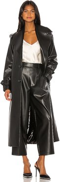 Double Sided Faux Leather Sequin Trench in Black. - size M (also in S)