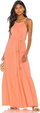 Escondido Tiered Dress in Orange. - size 6 (also in 2)