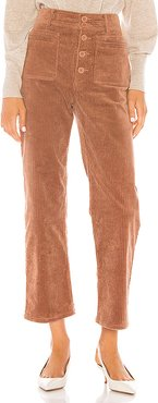 Slim Marston Pant in Brown. (also in 2)