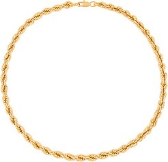 Chloe French Rope Necklace in Metallic Gold.