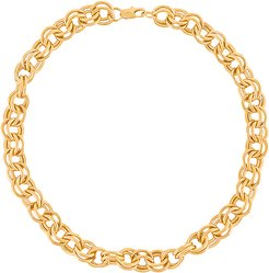 Parker Double Cable Chain Necklace in Metallic Gold.