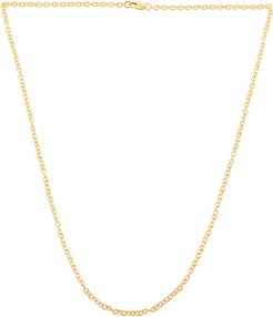 Cait Thin Cable Chain in Metallic Gold.