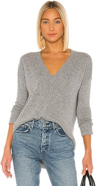 Distressed Edge Sweater in Gray. - size M (also in L,S,XS)