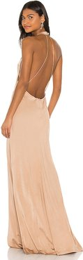 Xaverie Dress in Tan. - size L (also in XS,S,M)