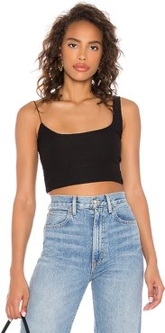 Gracie Crop Top in Black. - size M (also in L,S)