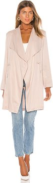 Lyocell Trench Coat in Blush. - size XS (also in L,M,S)