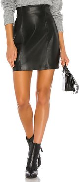 Girl Crush Vegan Leather Skirt in Black. - size 2 (also in 0,6,8)