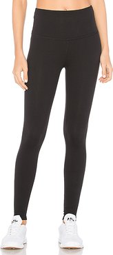 High Waisted Midi Legging in Black. - size L (also in M,S,XS)