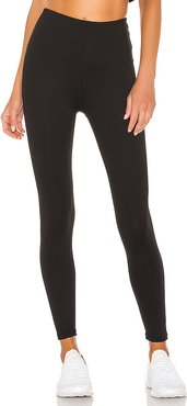 Sportflex High Waisted Midi Legging in Black. - size L (also in M,S,XS)
