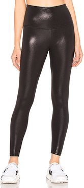 Pearlized High Waisted Midi Legging in Black. - size XS (also in L,M,S)
