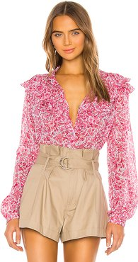 Nina Blouse in Pink. - size XS (also in L,M,S)