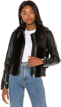 Faux Fur Bomber in Black. - size XS (also in M,S)