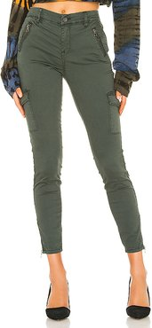 The Bond Mid Rise Cargo Skinny Pant in Green. - size 31 (also in 25,26,28,29,30)