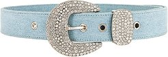 Brittany Denim Belt in Blue. - size S (also in M,XS)