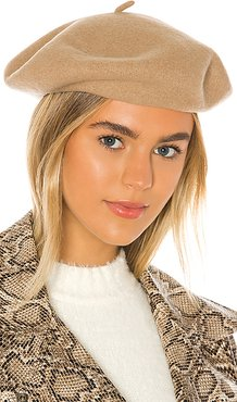 Audrey Beret in Taupe. - size M (also in S,XS)