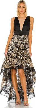 Louise Gown in Metallic Gold. - size S (also in XS,M)