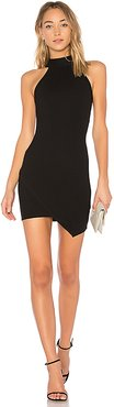 Tegan Wrap Mini Dress in Black. - size XXS (also in S,XS)