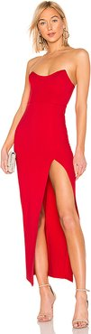 Ryleigh Strapless Maxi Dress in Red. - size XL (also in L)