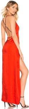Summer Cross Back Maxi Dress in Red. - size L (also in M,XL)