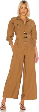 No Lies Jumpsuit in Brown. - size XS (also in S)