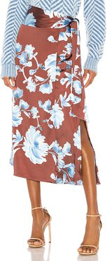In Bloom Skirt in Brown. - size S (also in L,M,XS,XXS)